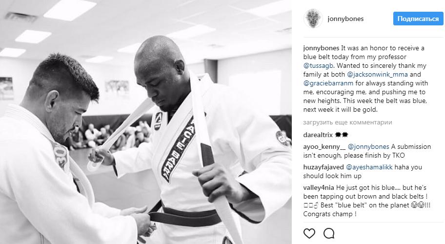 """Jon """"Bones"""" Jones receives Blue Belt – Jiu Jitsu News"""
